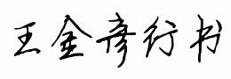 王金彦简行书完善体